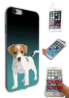 1508 - Cool Fun Trendy Cute Dog Jack Russell Pets Collage Animals Design iphone 6 Plus / 6S plus 5.5'' Fashion Trend CASE Gel Rubber Silicone Complete 360 Degrees Protection Flip Case Cover. 100 % Guarantee Delivery Between 5-12 Days. Touch design that mo