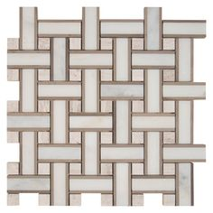 12-Inch x 12-Inch x 10 mm Renaissance Marble Mesh-Mounted Mosaic Floor/Wall Tile (10 sq. ft./case)