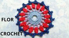 Flor N° 13 en tejido crochet tutorial paso a paso.