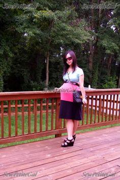 Color Block dress suitable for maternity ...SewPetiteGal: 45 Min. Colorblocked T-Shirt Dress DIY Tutorial