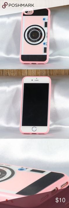This listing is for 1 case, the color is light pink! Iphone 6 Plus Case, Iphone Cases, Retro Camera, Cell Phone Holder, Portable Charger, Camera Case, 6 Case, Apple Watch, Tech