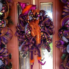 Best Witches door wreath  by ChicAffair on Etsy