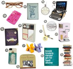 A gift guide for literary lovers, readers, and writers!