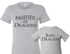 mother of dragons mommy + me set at psychobaby | baby shower gift guide