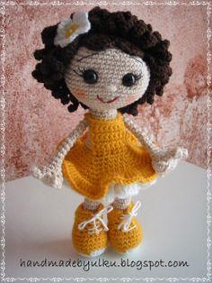"""Handmade by Ülkü: Amigurumi Doll """"Sonne"""" / Häkelpuppe """"Sonne"""" / Örgü Bebek"""