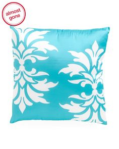 Made In India 20x20 Indoor Outdoor Damask Pillow