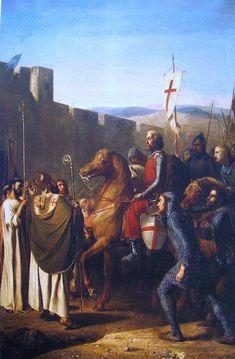 Baldwin of Boulogne entering Edessa in Feb 1098 - Salles des Croisades — Wikipédia