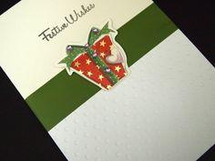 elegant Christmas Card, Sizzix Big Shot Embossing folder, 3D-Sticker from Hobbycraft