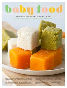 Organic baby food recipes (even baby chicken pot pie!).