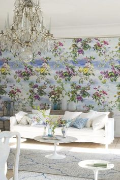 227 Best Floral Wallpaper Images In 2019 Designer Wallpaper