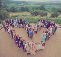Wedding Poses Startegically placing your guests to form one giant heart is one creative wedding photo to add to your album. Image via Ruffled . - Unique wedding photo ideas to try. Wedding Blog, Destination Wedding, Dream Wedding, Wedding Ideas, Diy Wedding, Wedding Ceremony, Wedding Planner, Reception, Recycle Your Wedding