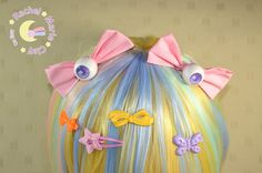 Kawaii Hair Bows Eyeball Bows Eye Bow Clips by RachelMarieClay