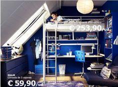 ikea loft bed bunk-bed + study