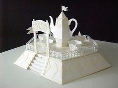 HIROKO's Pop-Up Art Blog: tea cup ride pop-up art