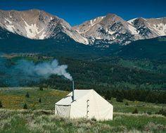 Montana Canvas wall tent, $885 (Made in Montana) #madeinusa #madeinamerica