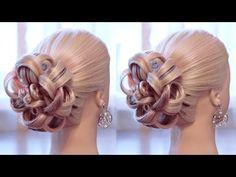 """Hairstyle for long hair - Вечерняя причёска - """"Каменный цветок"""" - Hairstyles by REM - YouTube"""