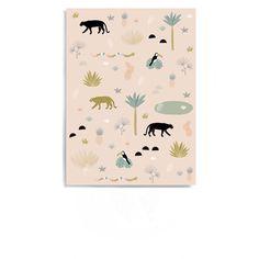 <p>Carte postale Jungle, format vertical, coins arrondis, design Minimel, impression quadrichrome, fabrication française. A envoyer avec un mot gentil ou à accrocher sur son mur pour décorer ! On aime ce doux graphisme comme une carte au trésor au milieu de la jungle.</p> <p><em><br /></em></p>