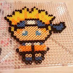 Naruto perler beads by Handy Candy Perler Beads, Perler Bead Art, Fuse Beads, Pixel Art, Pearler Bead Patterns, Perler Patterns, Naruto, Pixel Beads, Hama Beads Design