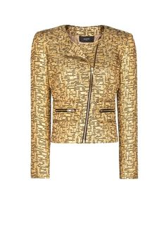 MANGO - Metallic brocade jacket
