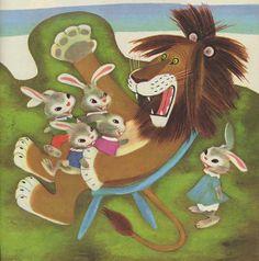 """Un festin de Lion"" illustr par Gustav Tenggren"