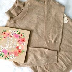 NWT Coldwater Creek Cashmere Turtleneck Sweater The must-have classic! Super soft camel color, perfect piece for any wardrobe! No flaws, excellent condition, runs true to size. Coldwater Creek Sweaters Cowl & Turtlenecks