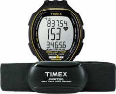 Timex Men& Ironman Target Trainer TapScreen Heart Rate Monitor with Resin Strap Watch, Black/Yellow, Full-Size ** Be sure to check out this awesome product. Electronic Gadgets For Men, Mens Gadgets, Ironman Triathlon Watch, Sporty Watch, Timex Indiglo, Watch Deals, Running Watch, Timex Watches, Target