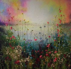Yulia Muravyeva - A new fairytale Art Floral, Acrylic Painting Canvas, Canvas Art, Beautiful Landscape Paintings, Spring Painting, Abstract Flowers, Flower Painting Abstract, Oeuvre D'art, Painting Inspiration