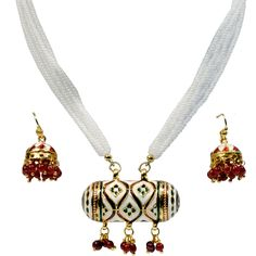 Necklace Sets Available @ Range of below 500/- only Click Here to Buy: http://www.artncraftemporio.com/jewellery-and-accessories/jewellery/necklace-sets The elegant brass necklace and ear rings are engraved with royal ethnic design that embodies tradition and beauty.