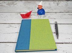 Notizbuch, Grün und Blau