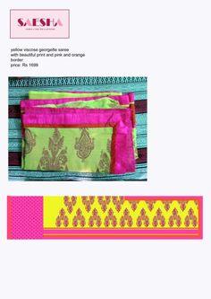 screen printed saree with border