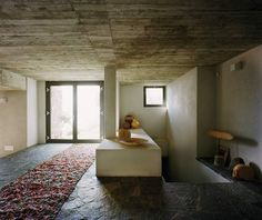 Italian Stone House with rustic appeal on Lake Como, by architect Arturo Montanelli --for the bathroom?!