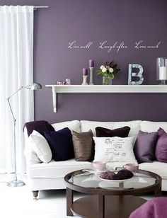 67 ideas for bedroom paint mauve living rooms Mauve Living Room, New Living Room, Living Room Decor, Bedroom Decor, Purple Rooms, Purple Walls, Purple Wall Paint, Bedroom Wall Colors, Bedroom Color Schemes