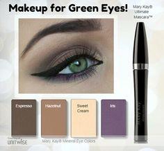 Maquillage yeux vert