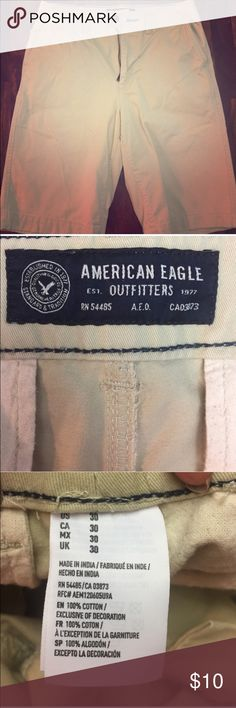 Men's American Eagle Shorts Size 30 Khaki Longboard Style. Great Condition! American Eagle Outfitters Shorts Flat Front