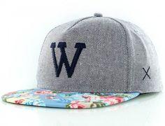 Classic Floral-Indigo Snapback by WEMOTO