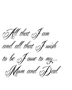 mom and dad tattoos - Google Search