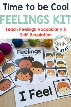 Character Education, Feelings, Interactive Books for preschool, pre-k, special needs students. Self regulation and self awareness, calm and cool down kit