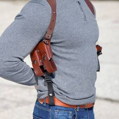 If you are looking for a versatile shoulder rig made of sturdy leather that can be adjusted easily and worn with comfort this is the one for you. Concealed Carry Holsters, Gun Holster, Leather Holster, Leather Harness, Weapon Storage, Hand Molding, Cowhide Leather, Hand Guns, Perfect Fit