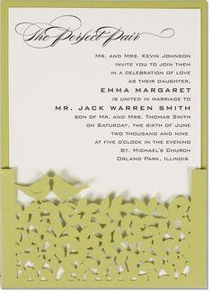 Primavera Laser Cut Wedding Invitations [POPerfectPair]  : Wedding Invitations, Wedding Stationery, Handmade Wedding Invitations