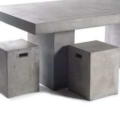 Concrete outdoor furniture