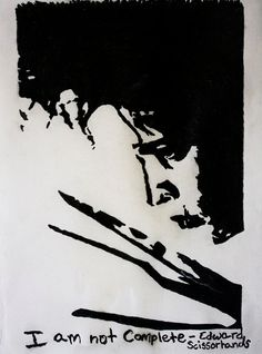 Charcoal Drawing of Edward Scissorhands with by CanvasAtelier, $4.00