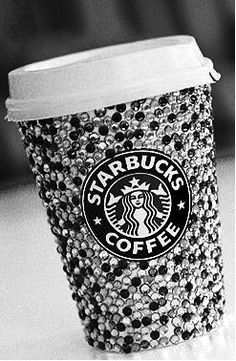 If you don't throw away your Starbucks cup, refills are only 50 cents. I now present bedazzled starbucks cup Starbucks Coffee, Copo Starbucks, Starbucks Drinks, Hot Coffee, Coffee Cups, Drink Coffee, Coffee Time, Starbucks Tumbler, Coffee Break