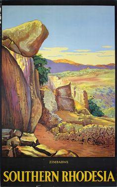 Poster: Zimbabwe - Southern Rhodesia Artist: A. W. Baylis