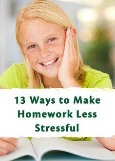 13 Ways To Make Homework Less Stressful