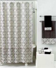 In gold Avanti Bath Accessories, Galaxy Shower Curtain Home Design, Christmas Bathroom Decor, Walk In Shower Designs, Bathroom Pictures, Bathroom Ideas, Shower Ideas, Trends, Small Bathroom, Rental Bathroom