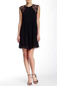 Morgan Scrolling Lace Dress by Nicole Miller Artelier on @HauteLook