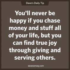 The Dave Ramsey Show on Great Quotes, Quotes To Live By, Life Quotes, Inspirational Quotes, Awesome Quotes, Meaningful Quotes, Daily Quotes, This Is Your Life, Way Of Life