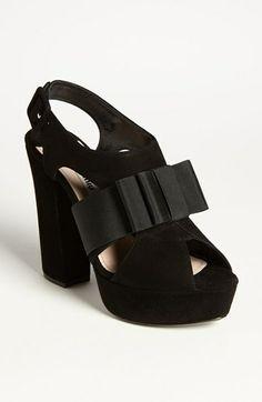 Miu Miu 'Tuxedo Bow' Sandal   my rehearsal dress would just love these