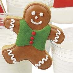 Gingerbread Boy Milk-N-Cookie