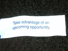 home fortune cookie - Google Search
